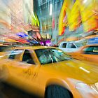 Time Square Yellow Cab (New York City) by André Rizzotti