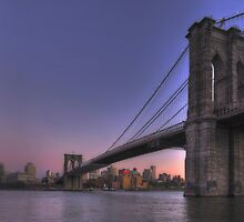 New-York Manhanttan Bridge at Sunset by André Rizzotti