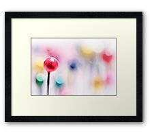 A pincushion in a very colorful mood... Framed Print