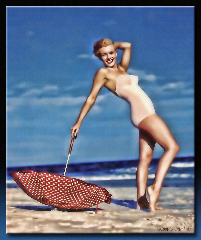 The Marilyn Pin-up by Richard  Gerhard