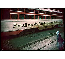 Vintage Pittsburgh Trolly Photographic Print