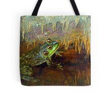 Triopse Frog in a Cave Fantasy Tote Bag