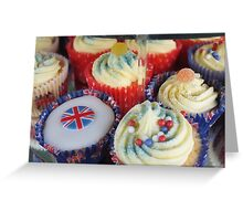 Diamond Jubilee Cup Cakes Greeting Card