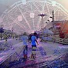 Coney Island Boardwalk/Wonder Wheel Fantasy by SylviaS