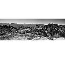 Zabriskie Point Panorama - Death Valley National Park, California Photographic Print