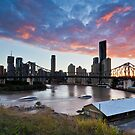 Sickly sweet sunset, Wilson's Outlook, Brisbane by Martin Canning