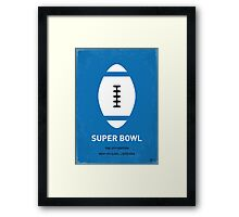 MY SUPER BOWL MINIMAL POSTER  Framed Print