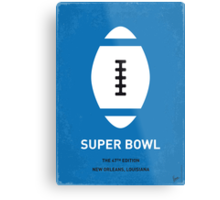 MY SUPER BOWL MINIMAL POSTER  Metal Print