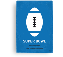 MY SUPER BOWL MINIMAL POSTER  Canvas Print