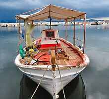 Lesbos fishing boats. 2 by ronsaunders47