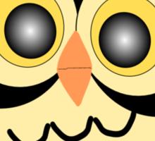 Black And Gold Owl Design Sticker