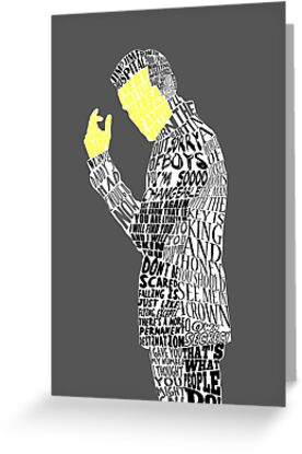 Jim Moriarty Typography Art by andersaur