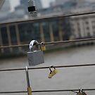 Padlocks on Millennium Bridge London by troffle24