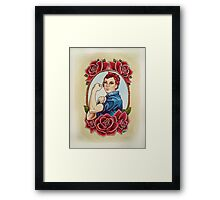 Rosie with Roses Framed Print