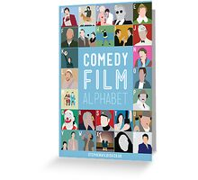 Comedy Film Alphabet Greeting Card