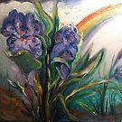Iris, Rainstorm, Rainbow by Barbara Sparhawk