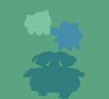 Pokemon - Bulbasaur Family iPhone / iPod Cover by Aaron Campbell