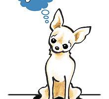 "Cream Chihuahua ""Think Bones"" All Occasion Card by offleashart"