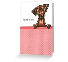 Chocolate Lab Pink Dots Thank You Cards Greeting Card