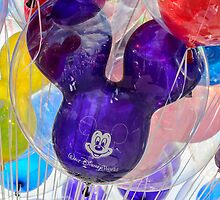 Mickey Mouse balloon with reflection by Mark Fendrick