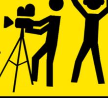 Filming In Progress Sign Sticker