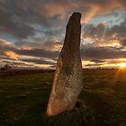 Sunset at Long Meg by Brian Kerr