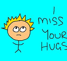 I Miss your Hugs - Greeting Card by Frogandthewell