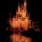 Cinderella's Castle - Yellow w/reflection by Mark Fendrick