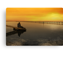Sittin' on the dock of the bay Canvas Print