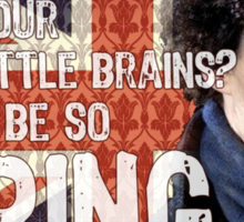 Sherlock Union Jack Quote Sticker