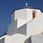 Church Detail in Blue & White by Carole-Anne