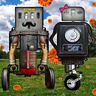 Mr. &amp; Mrs. Robot The Day It Rained Daisies At The Park by Elizabeth Burton