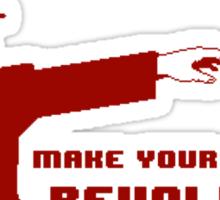 Make your own 8 bit revolution Sticker