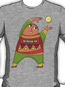 cheerful man with a ball T-Shirt