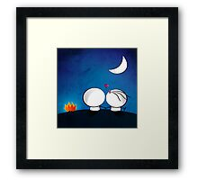 Looking at the moon Framed Print
