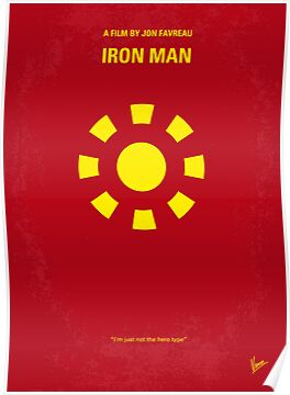 No113 My Iron man minimal movie poster by Chungkong
