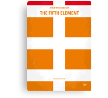 No112 My Fifth Element minimal movie poster Canvas Print
