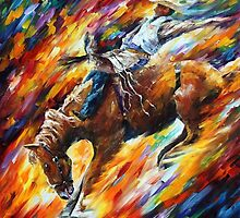 DANGEROUS GAMES  - OIL PAINTING BY LEONID AFREMOV by Leonid  Afremov