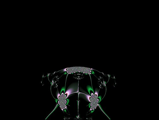 Abstract House Fly on a black background by Dennis Melling