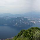 Lake Lugano from Monte Sighignola, Ticino, Switzerland by bartfrancois