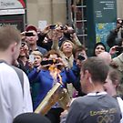 Passing the Flame, Olympic Torch, Glasgow by ElsT