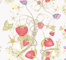 The Jubilee Butterflies and Strawberries by Helena Wilsen - Saunders