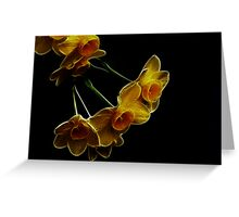 Mini daffodils fractal Greeting Card