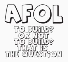 AFOL 'To Build, or not to Build, that is the Question' T-Shirt by Customize My Minifig by ChilleeW