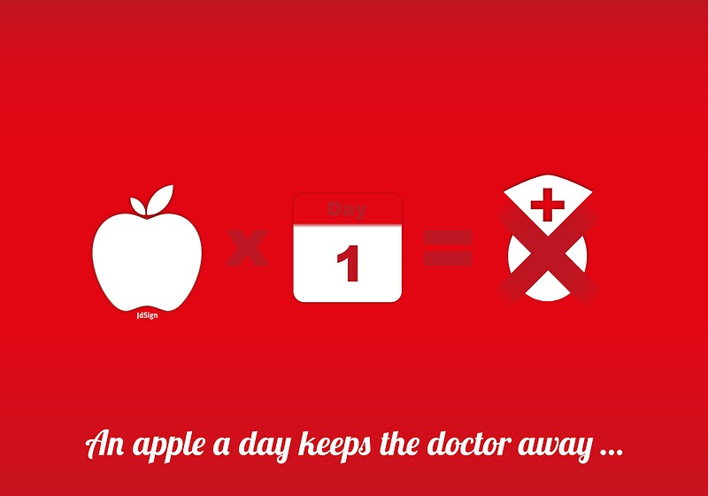 "An apple a day keeps the doctor away"" by jdshock 