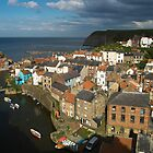 Staithes, North Yorks Coat by Cliff Williams