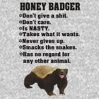 Honey badger don&#x27;t give a shit by nadil