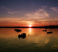 Sunset in Wexford Harbour Ireland  by eventsimages