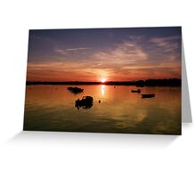 Sunset in Wexford Harbour Ireland  Greeting Card