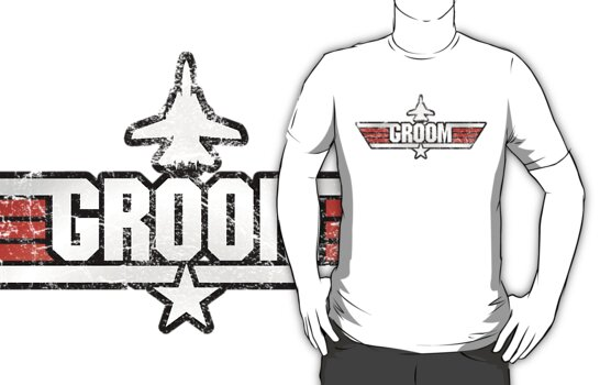 Top Gun Style Bachelor / Stag Party Shirt (Groom) by TGIGreeny
